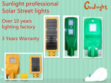 Un bajo costo más competitivo 10W todo en una luz de calle solar