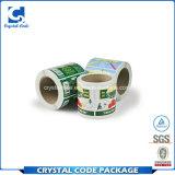 Collant estampé d'étiquette d'emballage stratifié par matériau de vinyle