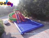 Gragon 작풍 팽창식 이동할 수 있는 물 공원 게임