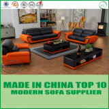 Moderne europäische Wohnzimmer-Möbel-reales ledernes Büro-Sofa