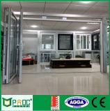 Het Aluminium die van de Prijs van de fabriek Deur met Aangemaakt Glas vouwen