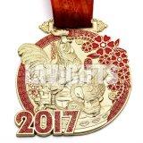 中国の安いカスタム光沢がある二重側面の新型の柔らかいエナメルのロゴ3Dの金属亜鉛合金の記念品賞のスポーツの偽造品の金メダル