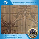 ASTM 202 a gravé la feuille en relief d'acier inoxydable pour la décoration