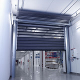 Porte rapide à grande vitesse dure en aluminium automatique d'obturateur de roulement