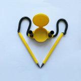 De gele Ballpoint van het Gel van de Lijst Plastic voor Bevordering (F201)