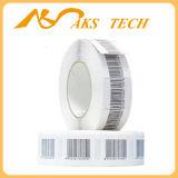 Etiqueta engomada redonda de la seguridad del código de barras de la escritura de la etiqueta 8.2MHz del sistema RF del departamento de joyería EAS