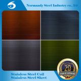 Feuille et plaque d'acier inoxydable de 304 couleurs pour la décoration et la cabine, porte d'ascenseur