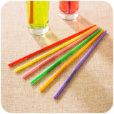 Eco-Friendly PP / PVC Material Colorido Packed Flexible Drinking Straw