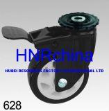 Schwarzes PU-Schritt-Schwenker-Doppelt-Verschluss-Loch-oberste schwarze Rahmen-Fußrolle