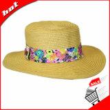 Sombrero de papel de la mujer del sombrero de Panamá de la paja