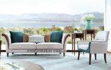 Sofa moderne neuf de tissu de chambre à coucher d'hôtel de meubles de salle de séjour (3seater)