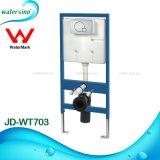 Réservoir avant affleurant duel de vente chaud de bouton caché par économie de l'eau de filigrane