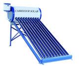 Géiser solar solar no presurizado del calentador de agua caliente del tubo de vacío del calentador de agua del panel con el tanque de agua solar auxiliar