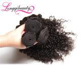 Cabelo brasileiro Curly barato Kinky real do Virgin de 100 Remy
