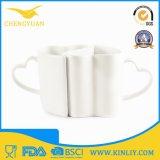 Figura di ceramica del cuore della tazza di caffè della porcellana della tazza di tè di vendita calda