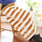 Petite couverture estampée de flanelle de couverture de polyester de bande (SR-B170316-40)