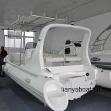Venda inflável do barco de motor do barco da casca da fibra de vidro do luxo de Liya 6.6m