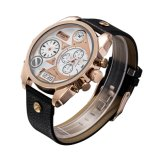 Rose Gold Double Movement Montre multifonction Rosegold
