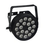 Ce Aprovado 18 RGBWA UV 6in1 LED PAR Pode Stage Light com Slim Die Cast Aluminium Housing and Powercon