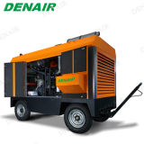 Tipo portátil móvel Diesel compressor do parafuso de ar para o sopro de areia
