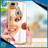 Caja protectora del teléfono del espejo del diamante de lujo cristalino de Bling para iPhone8