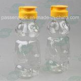бутылка меда формы медведя 350g пластичная с Non-Drip крышкой клапана силикона (PPC-PHB-16)
