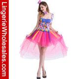 Halloween 사탕은 여자를 위한 어릿광대 복장 나이트 클럽 Cosplay 성과 복장을 착색했다