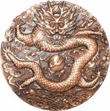 12cm Brass Made Dragon chinês Coin