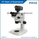 Microscópio elétrico binocular para identificação mineral