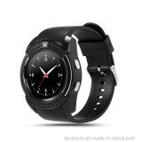 Téléphone mobile de montre de Bluetooth d'écran rond à pleine vue avec la fente de carte SIM (W8)