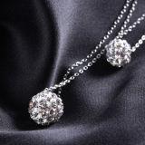 Grano de la capa doble de la plata esterlina de las mujeres 925 - collar pendiente Shaped
