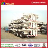 Il veicolo lungo Porta-Usa il rimorchio dello scheletro del terminale di contenitore di 40FT semi