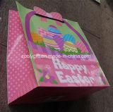 Die-Cut Design Glitter Happy Easter Holiday Printing Sacs promotionnels pour cadeaux en papier