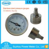 40mm paste de Anticorrosieve Volledige Ss Maat van de Druk de Manometer van -1 tot 4 Staaf of OEM 1/8 Draad aan