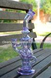 Vendita calda! Riciclatore di vetro di vetro del tubo di acqua di Ftk dell'uovo favoloso perfetto viola di vortice