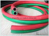 Boyau jumeau en caoutchouc 20bar de gaz de soudure de l'oxygène et d'acétylène de Red+Green/Blue