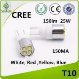 indicatore luminoso bianco dell'automobile LED del CREE di 20W T10