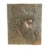 Beeldhouwwerk van het Brons van Relievo Deco van de Koning van het Standbeeld van het Messing van de hulp tpy-971/971b