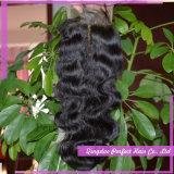 Fermetures bon marché de cheveu de partie de fermeture d'avant de lacet