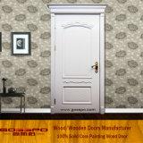Puerta interior blanca de madera sólida de la naturaleza de la pintura (GSP2-075)