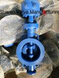 Tipo válvula da bolacha do aço de molde 150lb de borboleta do assento do metal
