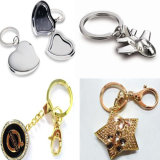 Promotion (GzhyKc004)のための2014新しいDesign 3D Die Casting Gold Silver Zinc Alloy Photo Keychain