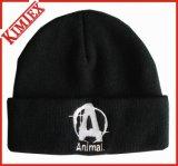 卸し売り安いアクリルのカスタムジャカードによって編まれる冬のリバーシブルの帽子