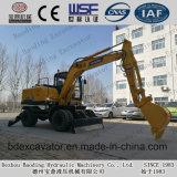 Excavadores de la rueda de la maquinaria de Baoding pequeños con Grassping para la venta