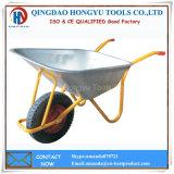 Carrinhos de mão de roda galvanizados da bandeja do metal