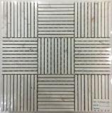 Nuove mattonelle di mosaico sottili bianche o nere del marmo dello stipite