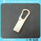 주문 로고 은 금속 Carabiner 훅 8GB USB 지팡이 (ZYF1738)