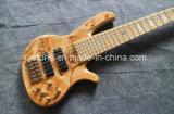 Guitarra baja eléctrica de la calidad activa superior de las recolecciones de la carrocería del Burl