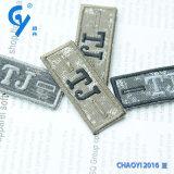 Etiket van uitstekende kwaliteit van het Borduurwerk van het Ontwerp van de Douane van de Fabriek het Veelkleurige