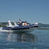 Barco inflável rígido de Liya 19ft com venda do barco de borracha do motor